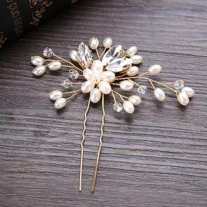 Jewelry - Crystal Pearl Hair Pin